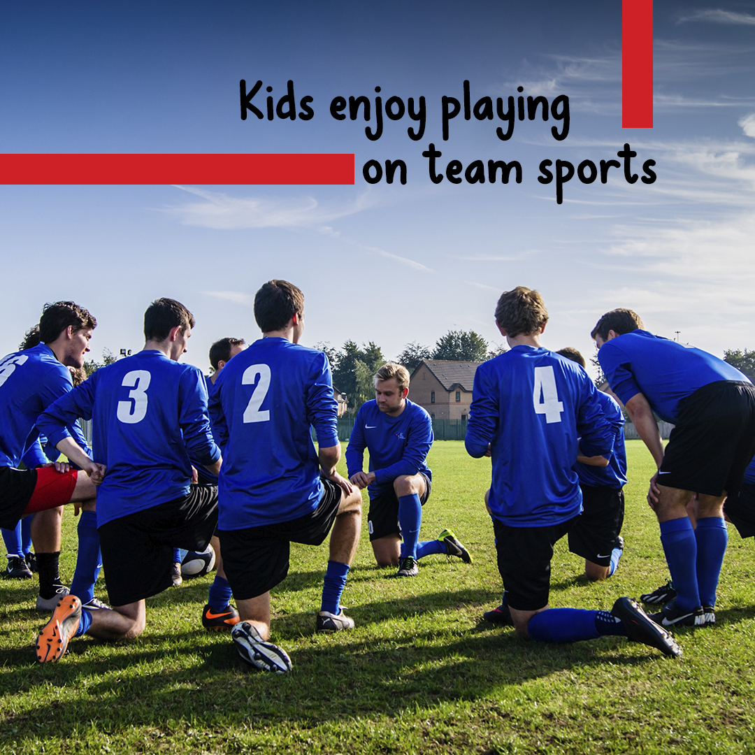 Team sports improve kids' lives.